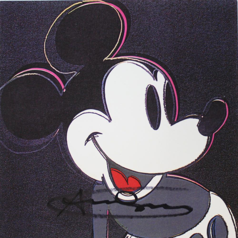 Andy Warhol ~ Mickey Mouse Invitation