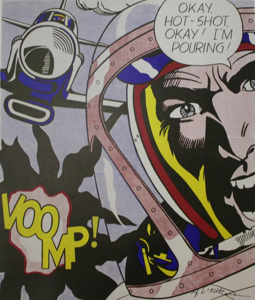ROY LICHTENSTEIN,  Okay Hot-Shot, Okay! 1963, Lithograph Hand Signed