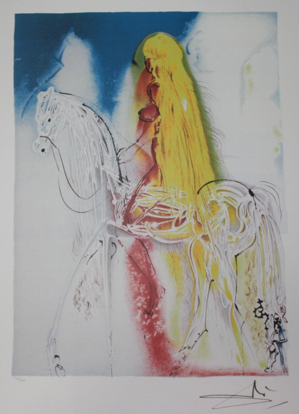 "Salvador Dali ""Sun Chariot"" Limited Edition Lithographn"