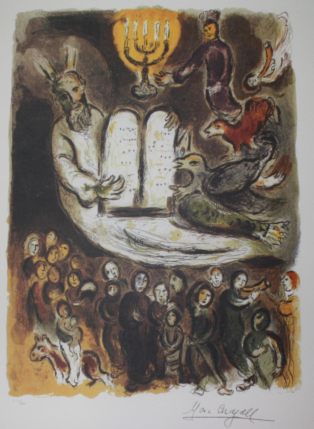 Marc Chagall MOSES AND THE TABLETS OF LAW Lithograph
