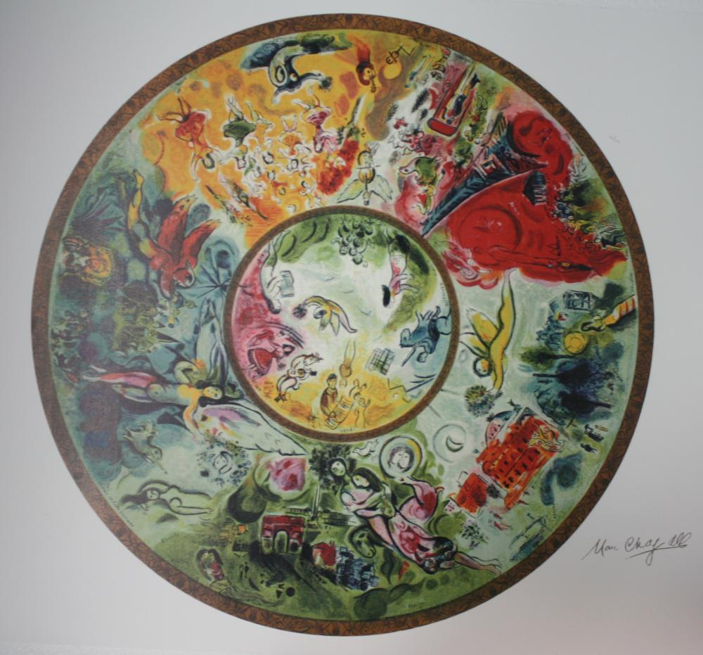 "Marc Chagall, ""Paris Opera Ceiling"" L/E signed and numbered Lithograph"