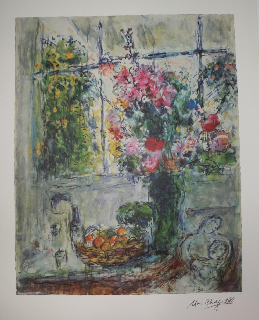 Marc Chagall, L/E Lithograph, Signed and Hand Numbered