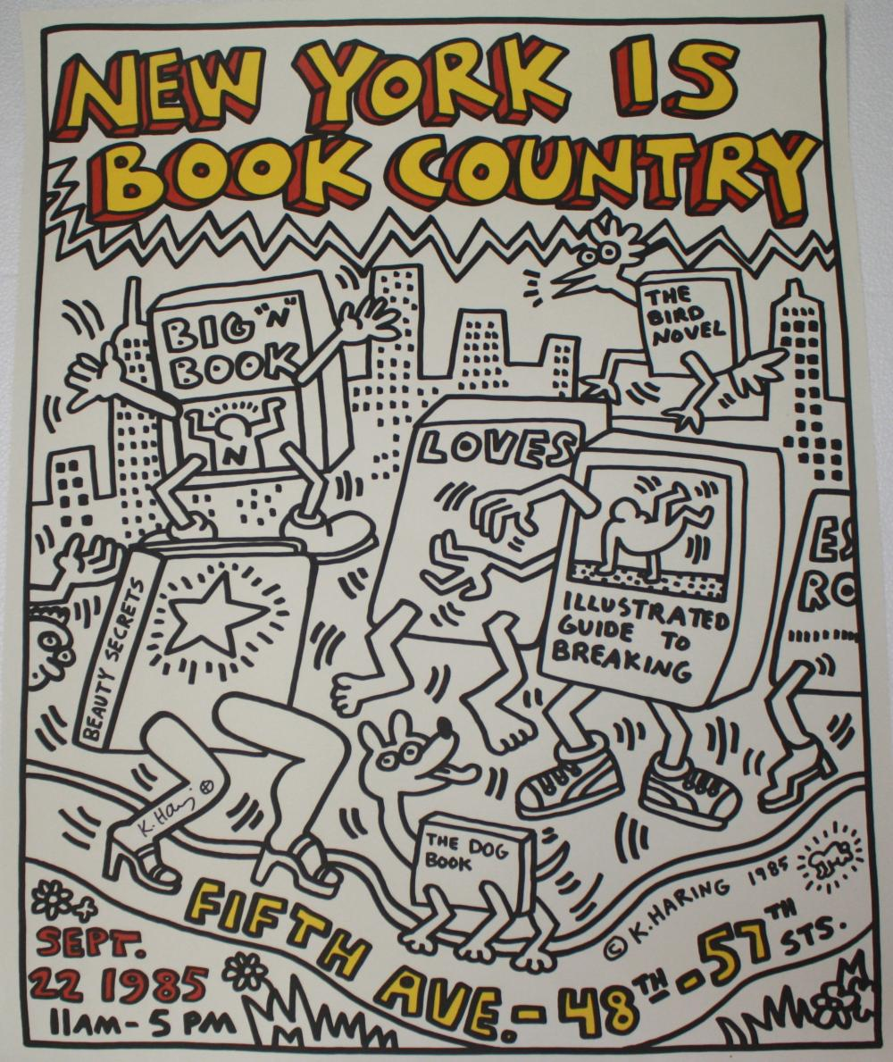 Keith Haring New York is Book Country Lithograph Signed
