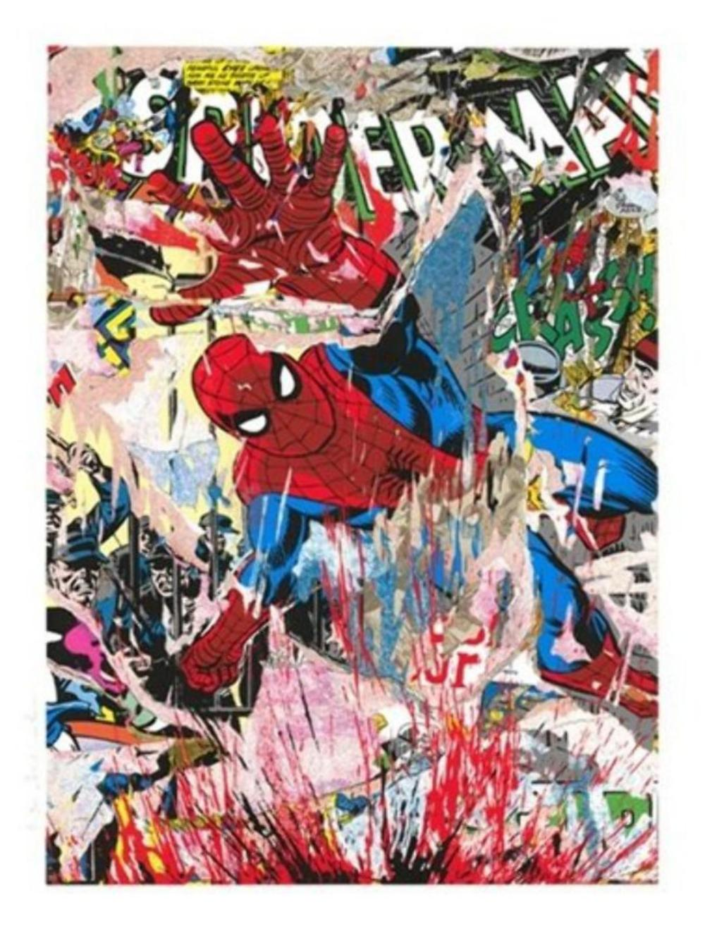 Mr Brainwash ~ Spiderman, Signed and Numbered