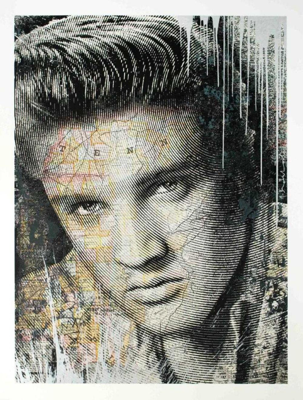 Mr Brainwash ~ King of Rock (Elvis),Silver, Signed and Numbered