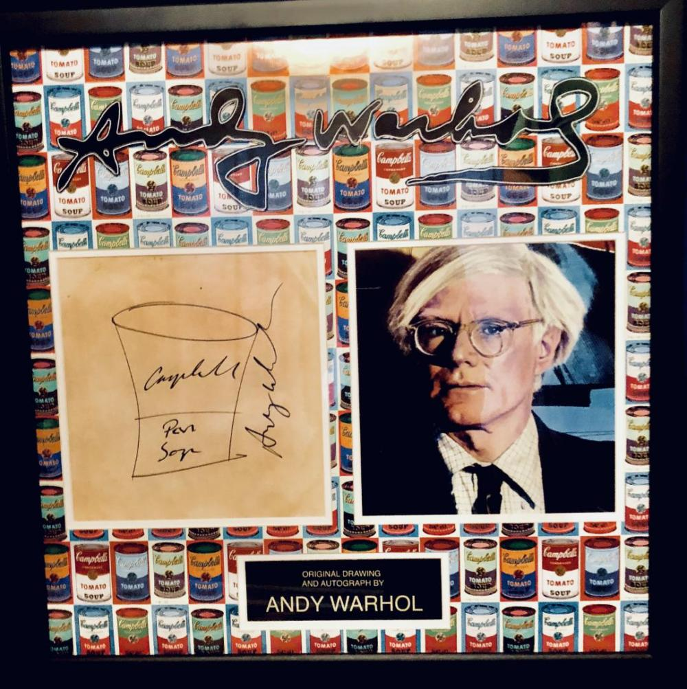 Andy Warhol Signed Soup Can Collage
