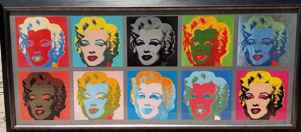 Ten Marilyns, 1967 by Andy Warhol offset lithograph