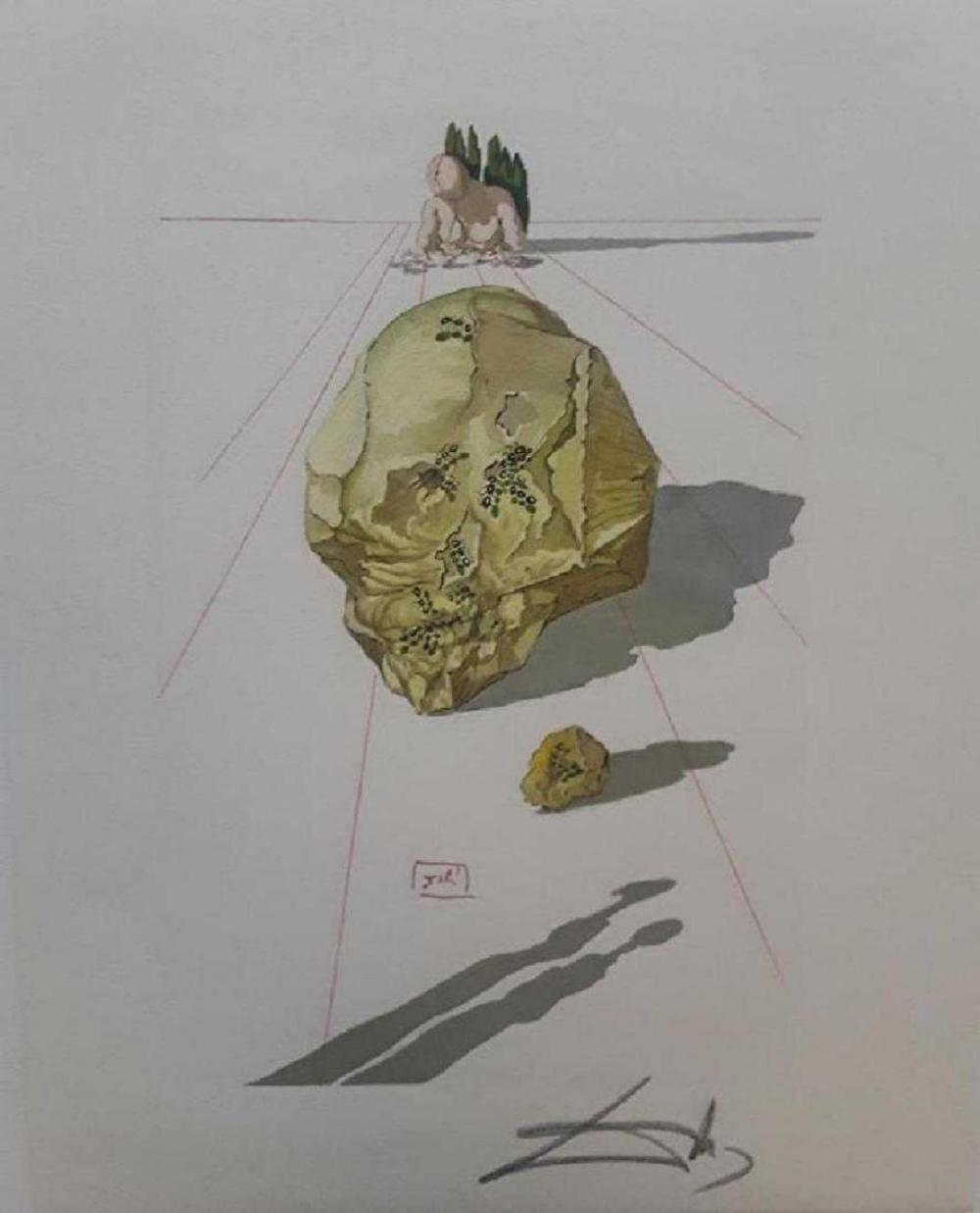 "Salvador Dali ~ Hand Signed, Woodblock Divine Comedy ""Hell"
