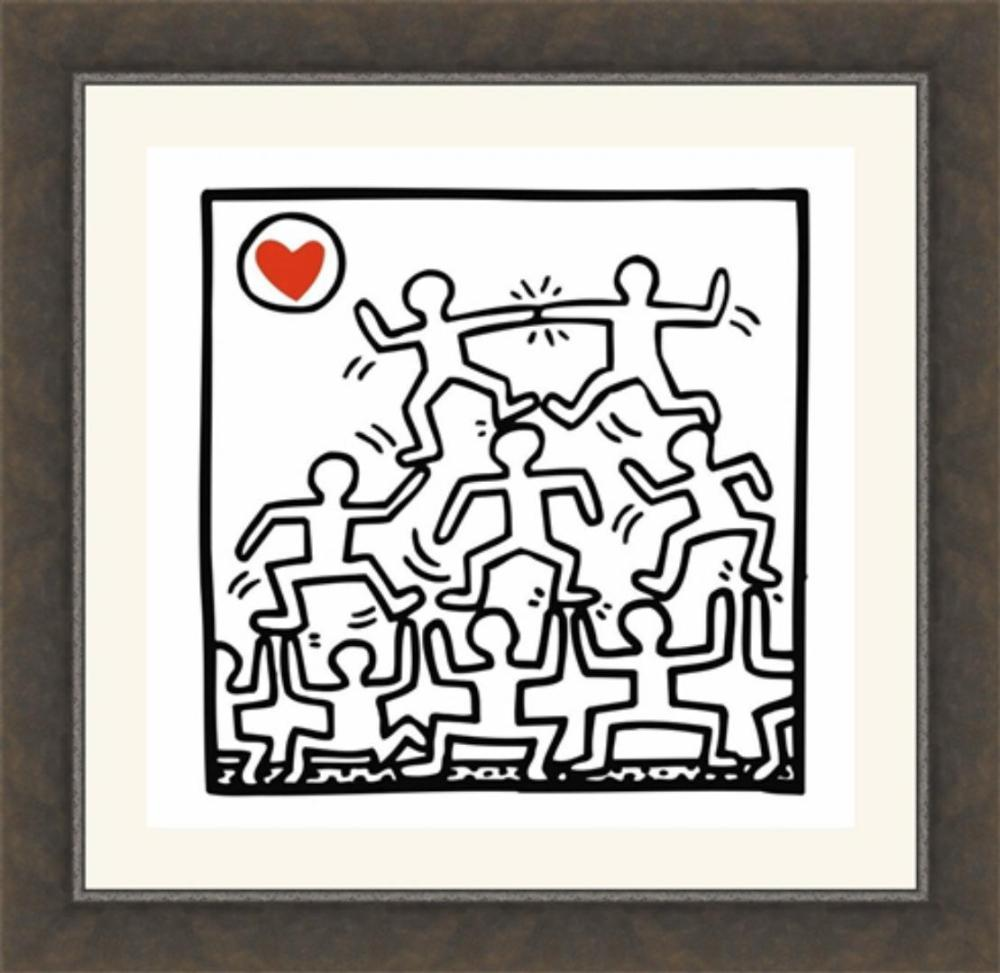 Keith Haring, One Man Show, Art Print, Offset Lithograph 12x12