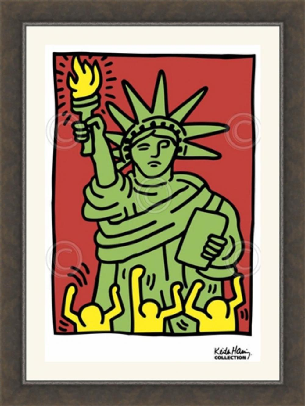 Keith Haring, 1986, Statue of Liberty, Art Print, Offset Lithograph 11x14