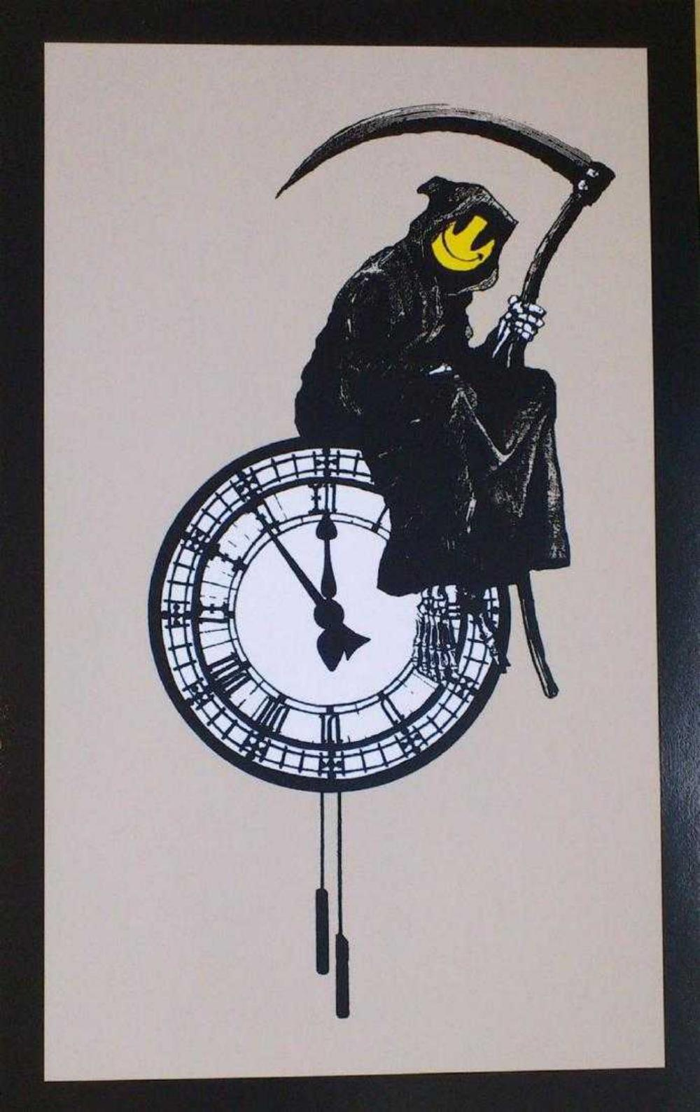 BANKSY - GRIN REAPER L/E SCREEN PRINT W/PUBLISHER STAMP
