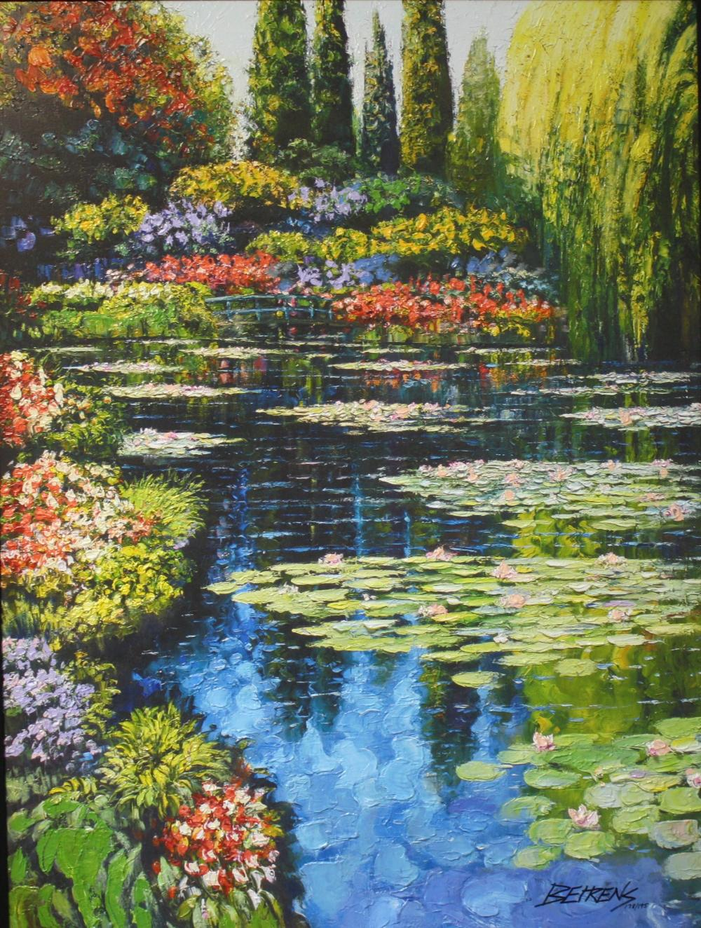 "Howard Behrens (Framed) ""Shimmering Waters of Giverny"" HS #"