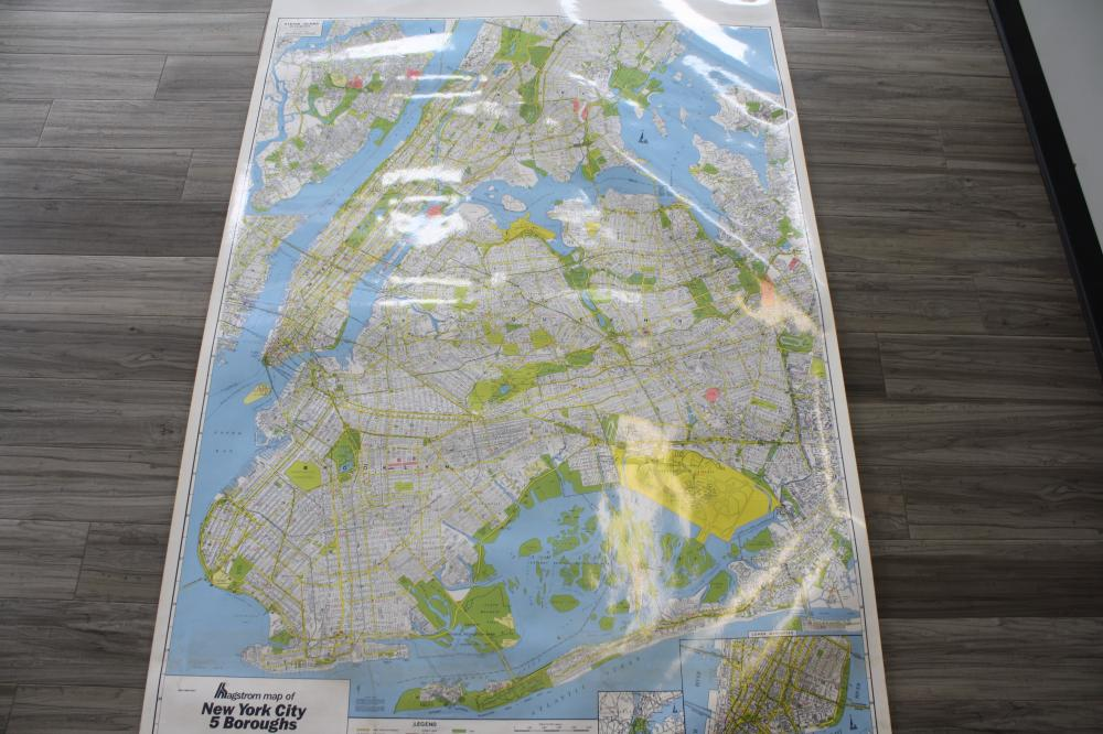 New York Map (Pre 9/11 with Twin Towers)
