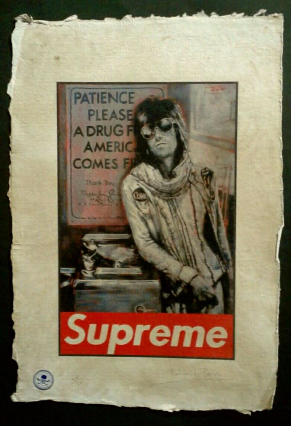 The Supreme Keith Richards Limited Edition Print 22'x 15' on Hand Made French Paper