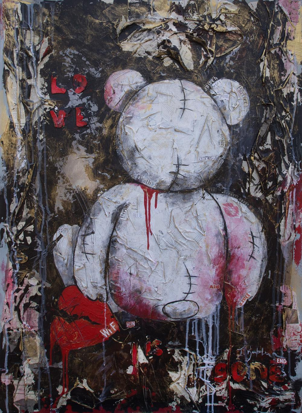 "Iness Kaplun, ""Love is Gone"", Mixed Media"