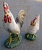 Concrete Rooster & Chicken As Is