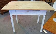 Scrub Top 1 Drawer Country Table