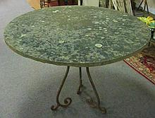Blue Stone and Iron Table