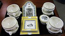 15 Pcs Villeroy & Boch Auden China Lot