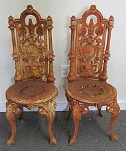 Pair Cast Iron Garden Chairs