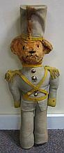 Early Stuffed German Soldier Teddy Bear