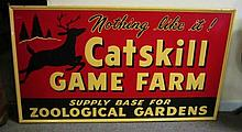 Catskill Game Farm Sign