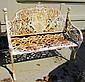 White Iron Bench Rusty
