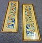 2 Oriental Silk Needlepoints