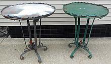 Pair of Antique Iron tables