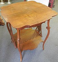 Tiger oak parlor table