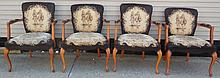 4 French Armchairs