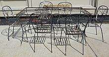 7 Pc. Saltarini Style Iron Patio Set