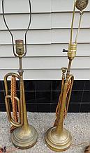 2 Trumpet lamps