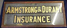 Reverse painted trade sign
