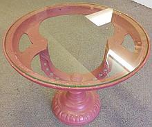 Round iron & glass table