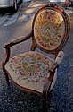 19th Cent French Needlepoint Armchair