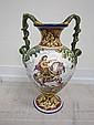 Majolica 2 Handle vase