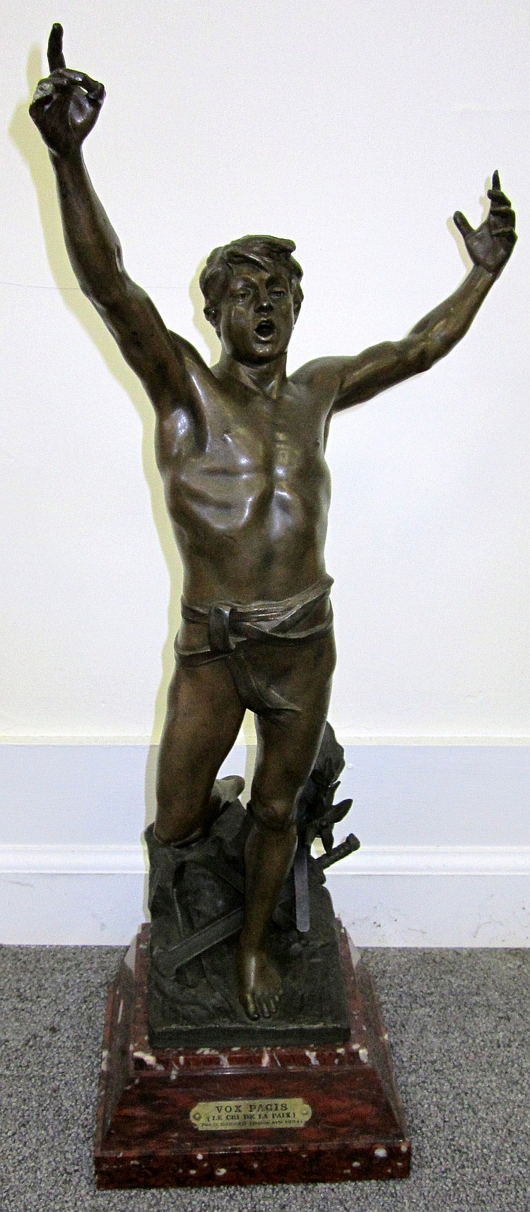 1891 Marble Spelter Figure