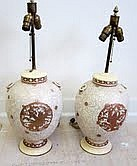 Pair Satsuma Lamps