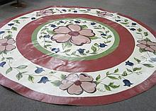 Painted Oilskin Floor Covering Stark 9' Diameter