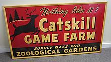 Catskill Game Farm Sign