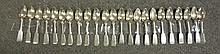23 Coin Silver Spoons John Cole Hall Hewson