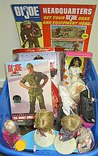 Large Lot of Barbies and G.I. Joe dolls