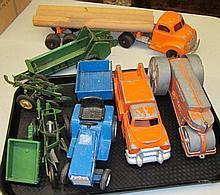 8 Piece Tractor, Truck, Farm Lot
