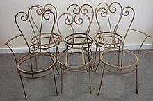 6 Iron Garden Chairs