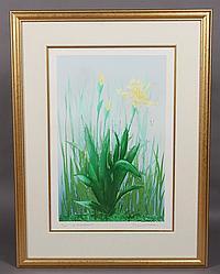 "Emil Weddige, (Canadian/ Michigan, B. 1907) ""At Breakfast"" Lithograph"