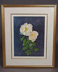 Emil Weddige (American, B. 1907) Peony, Lithograph