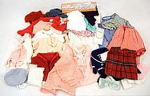 Large grouping of assorted doll clothing
