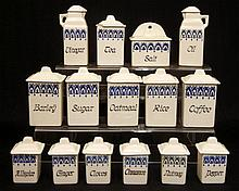 German porcelain miniature canister set