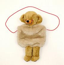 Vintage Merrythought teddy bear muff,